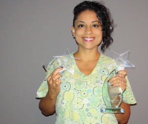Stephanie Dizon of Land O'Lakes, Fla. is showcasing her awards. (Photo: Karen León)