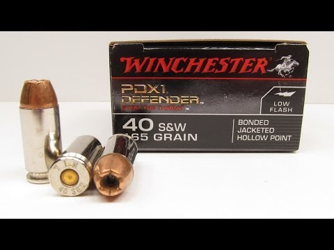 Ammo Test – Winchester PDX1 40 S&W
