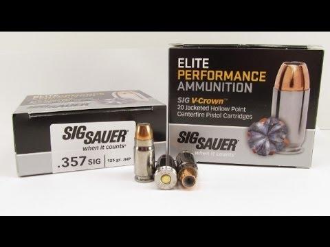 Ammo Test – Sig Sauer .357 Sig V-Crown