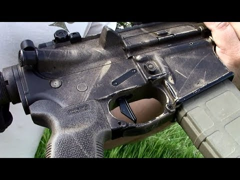 AR-15 with Geissele SD-E Trigger and EOTech CQB T-Dot
