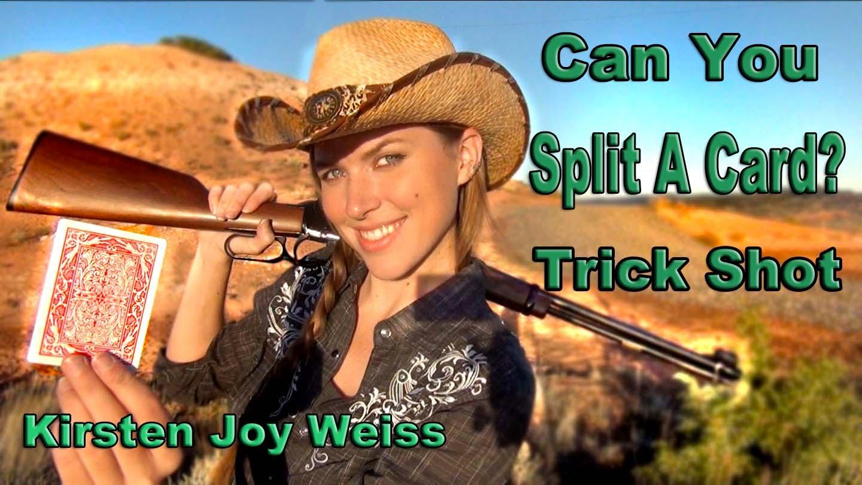 Kirsten Joy Weiss Card Splitting Trick Shot