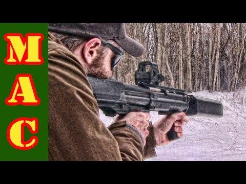Kel-Tec KSG Shotgun with SilencerCo Salvo 12 Suppressor