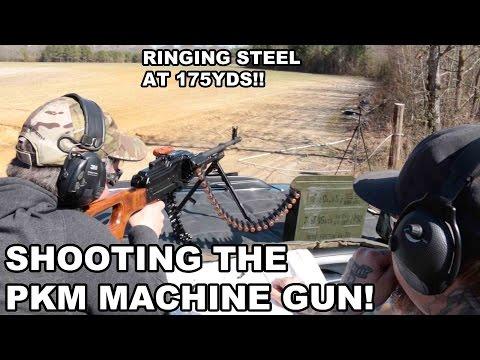 PKM Machine Gun Range Demo