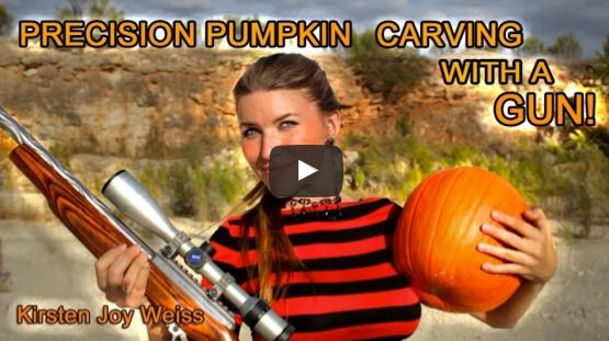 22LR Rifle Pumpkin Carving