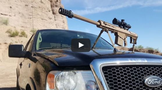 Barrett M82A1 vs Truck Windshield