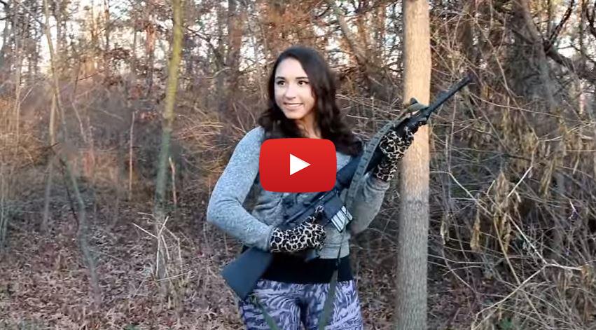Julias Photo Shoot with the Colt AR-15A2 H-BAR