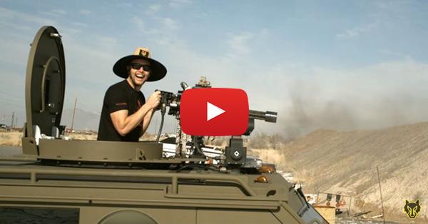BearCat Mounted Minigun vs Body Armor Plates