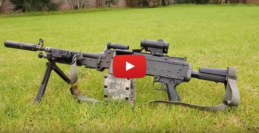 Belt-Fed M240L Machine Gun Pig Hunt
