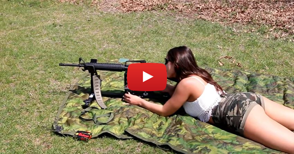 Julia Testing an AR-15 with the CTK Precision Shooting Rest