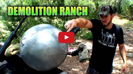 Giant Ball of Tape vs 9mm and 50 BMG