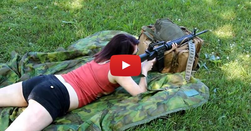 Kimberly Shooting the AR-15 Rifle