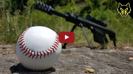 Barrett M82A1 50 BMG vs Baseball