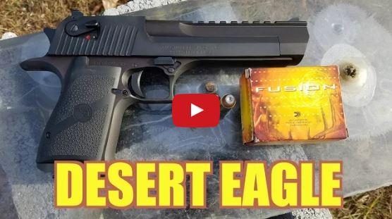 Desert Eagle 50AE vs Bulletproof Glass