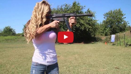 Tara Lynch Shooting a Heckler Koch MP5K