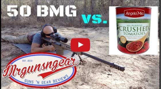 Barrett M107A1 50 BMG vs Tomatoes