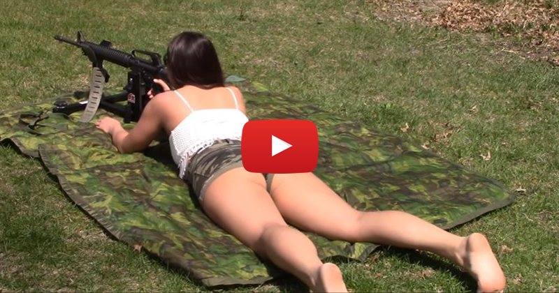 Julia Steel Shooting an AR-15 Rifle from Shooting Rest