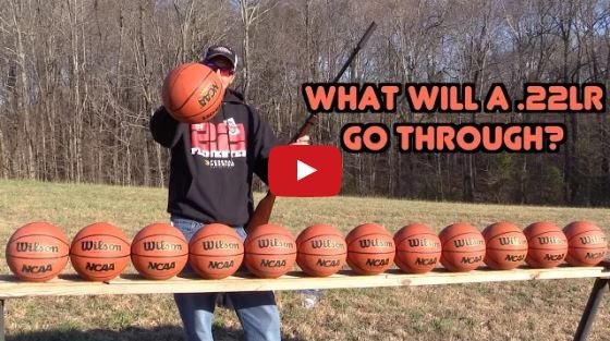 CCI Velocitor 22 LR vs Basketballs