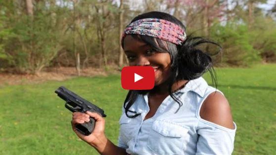 Marilyn Shooting a Sig P228