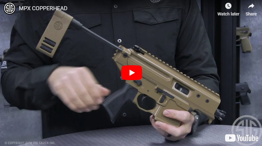 Sig Sauer Introduces the Sig MPX Copperhead