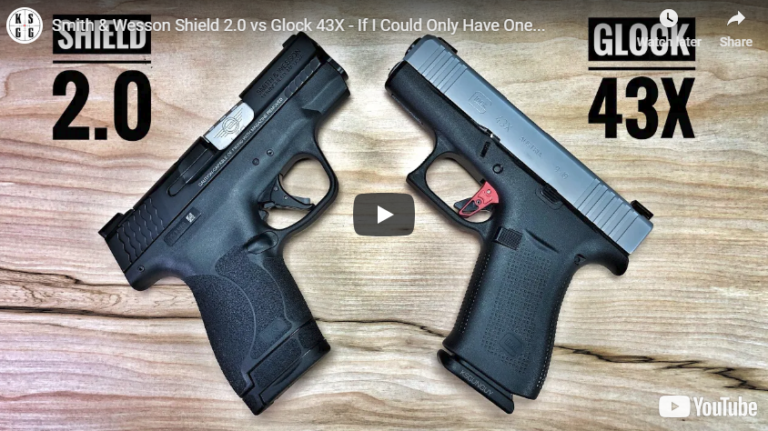 Glock 43X vs Smith & Wesson Shield 20