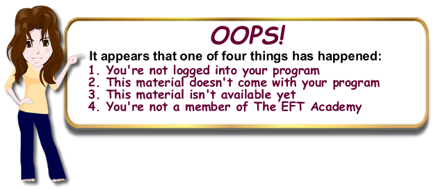 There was a problem accessing this content at The EFT Academy