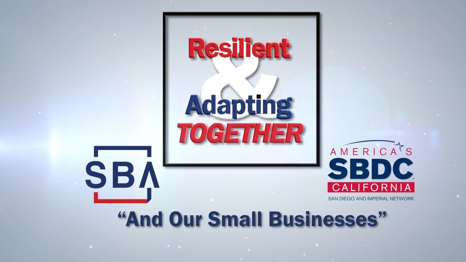 San Diego and Imperial Small Business Development Center Networks Awards 2020 - Resilient and Adapting Together