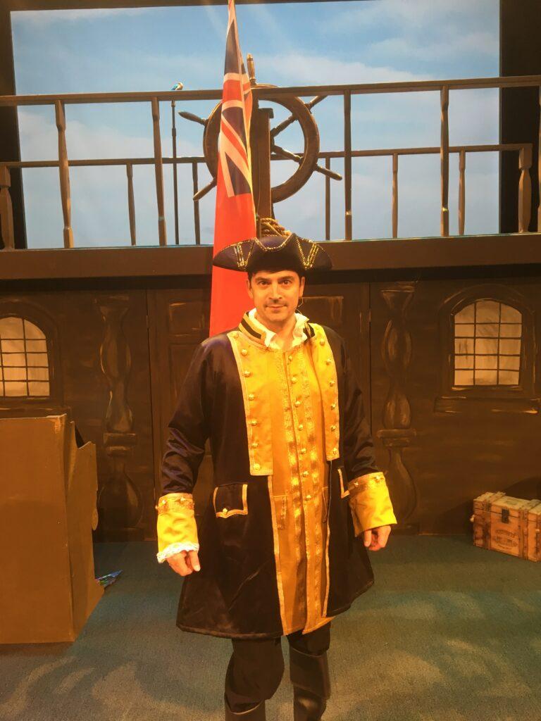 Captain Ricky on Stage Ship