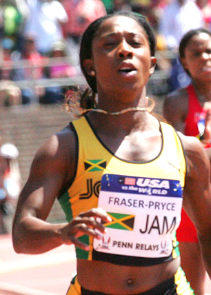 Shelly Ann Fraser-Pryce at Penn Relays