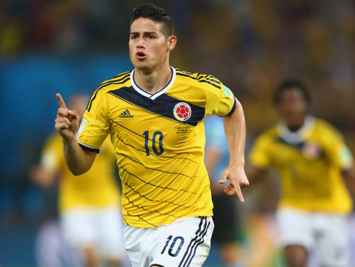 Colombian playmaker James Rodriguez