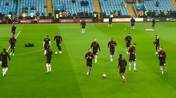 Manchester United warmup