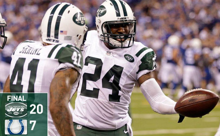 No Luck For Andrew, Jets, Revis Get Better of Colts