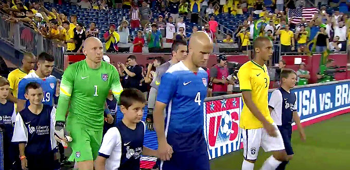 Video Highlights of Brazil beating USA 4-1