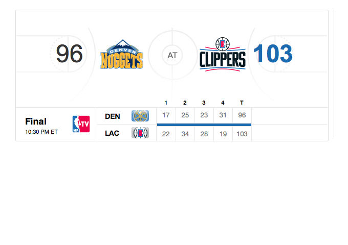 LA Clippers v Denver Nuggets preseason