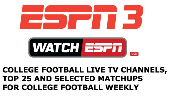 Live ESPN3 college football