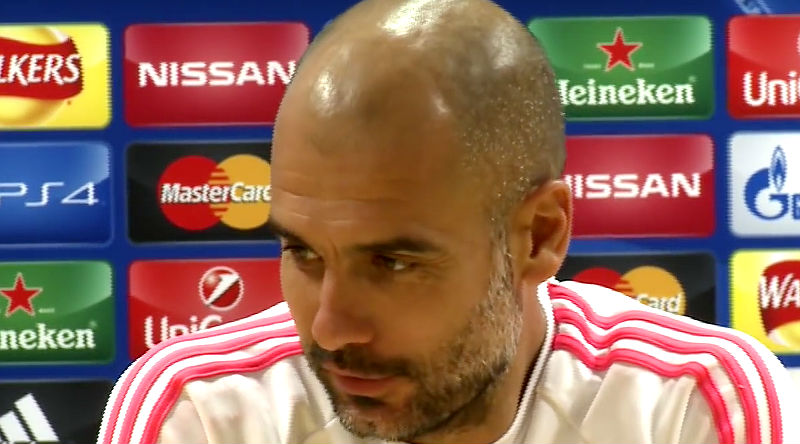 Pep Guardiola on ESPN3, ready for Atletico Madrid?