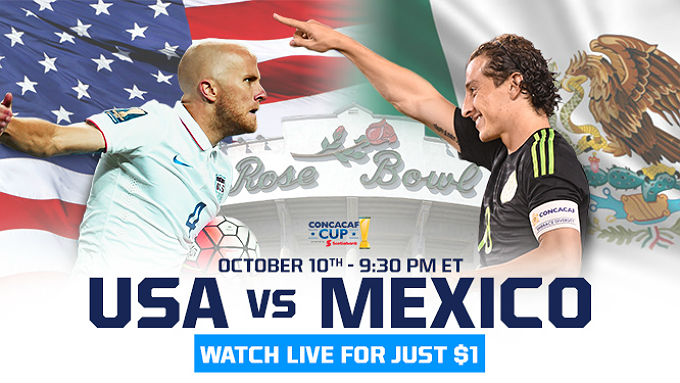 USA v Mexico CONCACAF CUP playoff