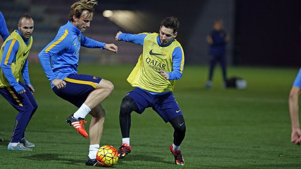Messi and Rakitic trains