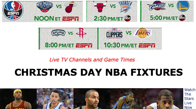 Christmas Day NBA Fixtures