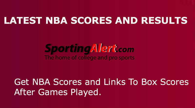 Latest NBA Scores and Box Scores From Dec. 14