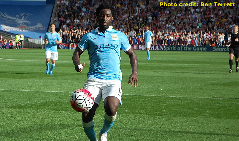 Wilfried Bony in EPL action for Manchester City: