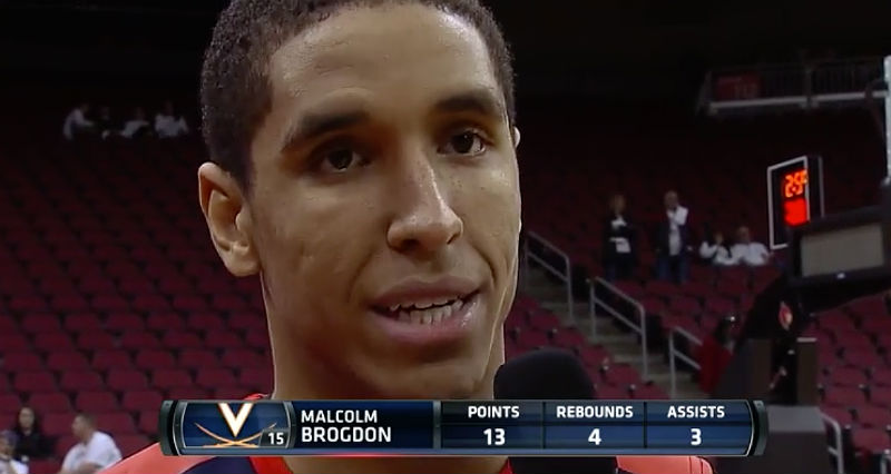 Malcolm Brogdon helps Virginia