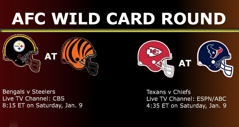 Watch Live AFC Wild Card Round NFL Game On Jan. 9