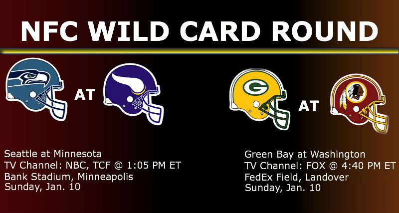 Watch NFC Wild Card Round Games Times Live On Jan. 10
