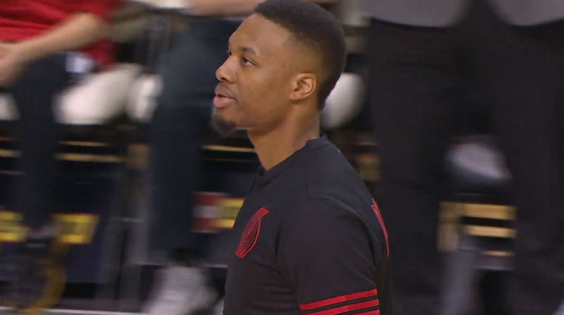 Damian Lillard of the Portland Trail Blazers scored 51 points against the Warriors