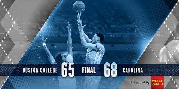 North Carolina beat Boston College in college basketball