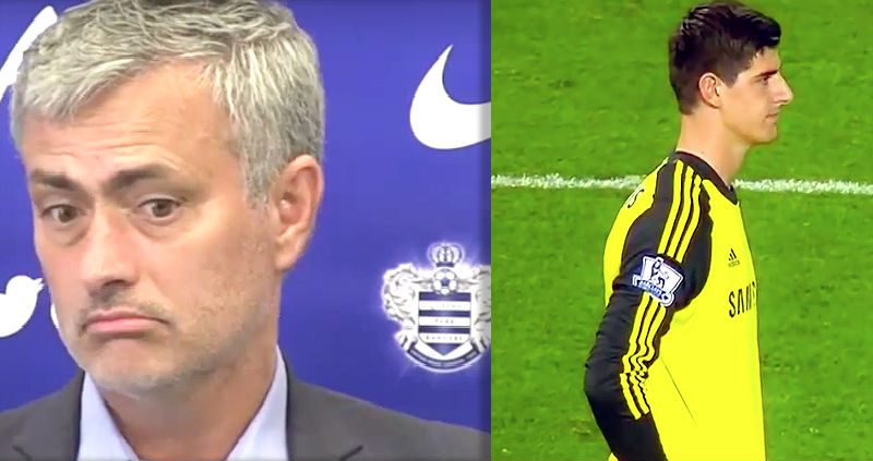 Mourinho and Courtois: Chelsea