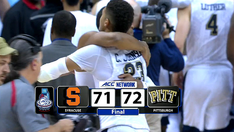 Pittsburgh Hold Off Syracuse 72-71
