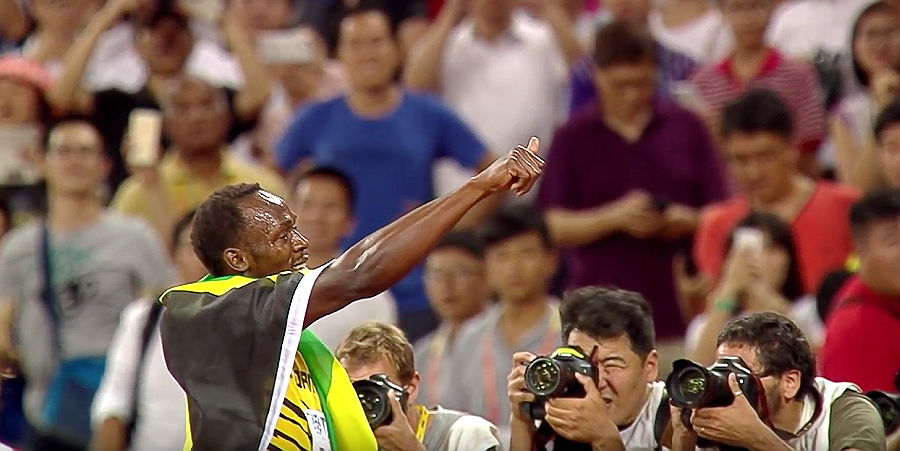 Usain Bolt wins at Racers Grand Prix