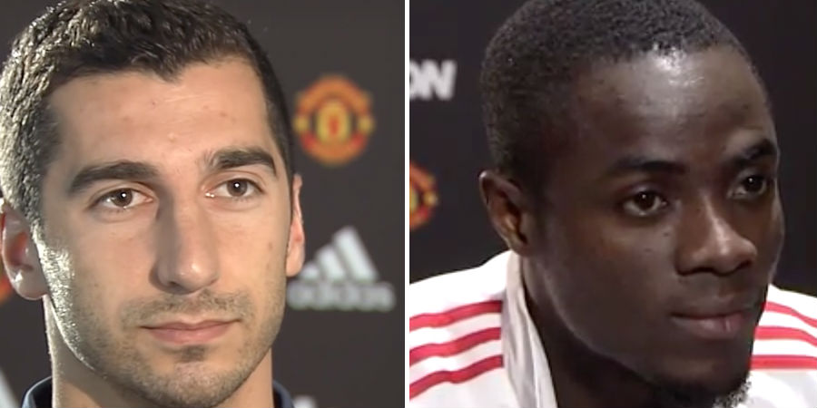 Henrikh Mkhitaryan and Eric Bailly: Manchester United