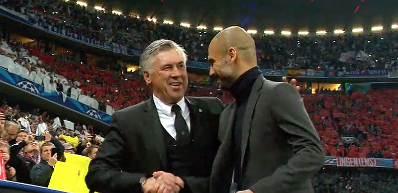 Pep Guardiola and Carlo Ancelotti
